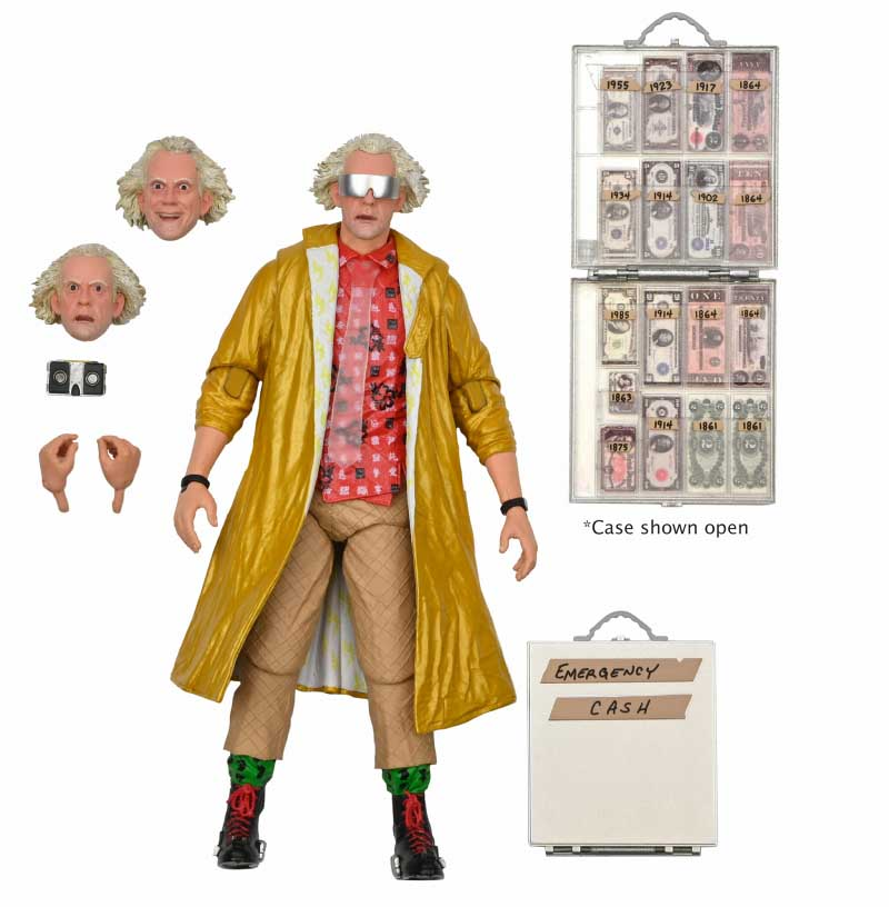 NECA BACK TO THE FUTURE 7インチアクションフィギュア BACK TO THE FUTURE PART II ULTIMATE DOC BROWN