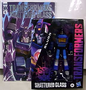 HASBRO TRANSFORMERS SHATTERED GLASS DELUXE CLASS BLURR