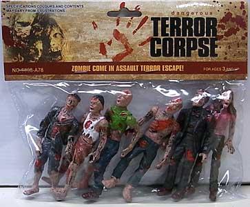 その他・海外メーカー DANGEROUS TERROR CORPSE ゾンビフィギュア 6PACK